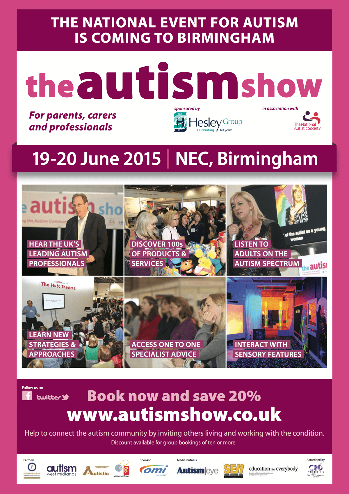 The Autism Show 2015 is coming to the NEC Birmingham,19-20 June.