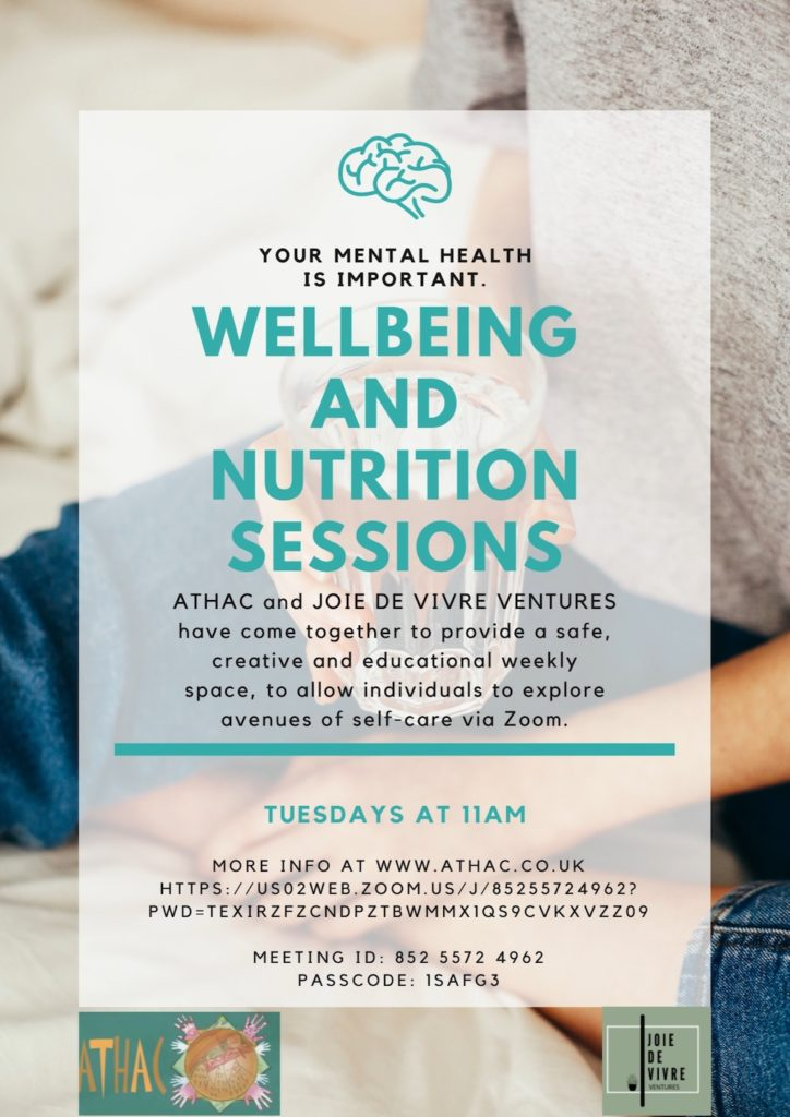 Wellbeing and Nutrition Sessions.